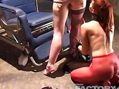 hot lesbian foot licking