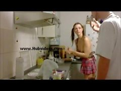 berlin babe teen kitchen fuck