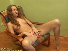 A Spicy Teen Plays With Her Yellow Dildo