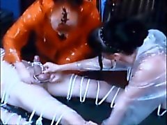 bondage stooge and dick burned with hot wax