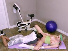 Katie Banks fucked in gym