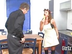 German Woman Gets Fucked In The Kitchen