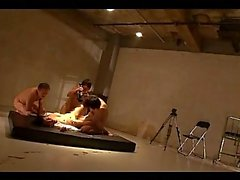 Schoolgirl Rapped Fingered Getting Her Mouth And Pussy Fucked By 3 Guys On The Mattress In The Basement