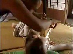 Ocensurerade japanska erotiska tonåring strumpbyxor fetisch