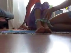 lesbians tie and foot worship
