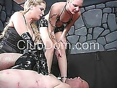 Bizarre dominatrix extreme slave torture