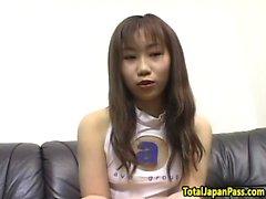 Oriental cheerleader pussyfucked from behind