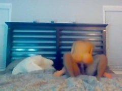 homemade hidden cam blonde bbc fucked creampie blowjob