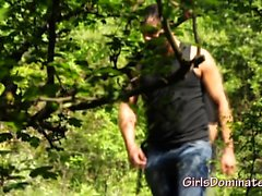 Gary fucks tied up teen in the woods