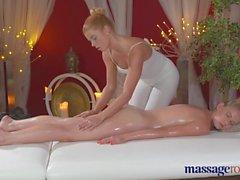 Massage Rooms Redhead lesbian cums hard