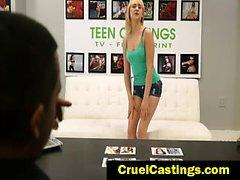 Lizzie Bell bdsm casting jizz rag