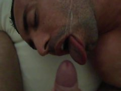 Painting his fucking face with cum 1