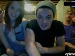 Amateur webcam 3 guys 1 girl