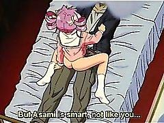 Dai capelli rosa della bambola hentai scopa la master cazzo nel dormitorio letto