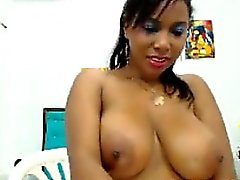 Busty Colombian Webcam Play