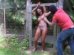 Jasmine Shy Chained Tickled Sensitive Nipples Outside
