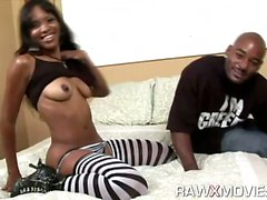 Hot Ebony Ass Blows Dong