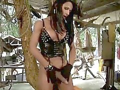 Hung Tranny Domme Stroking