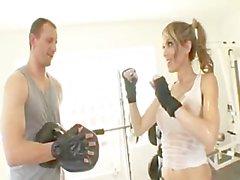 Courtney Cummz. . . Working Up A SeXXXy Sweat!