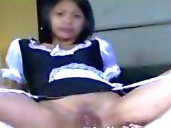 Ont consenti baise avec Suzanne Filipino Cosplay de ménage Recevez des