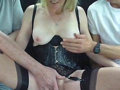 Cumming on big boobs outdoor
