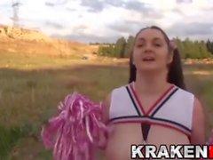 Krakenhot - Chubby submissive cheerleader outdoor