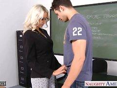 Professeur Sex d'Emma de Starr prendre des sexe en classes