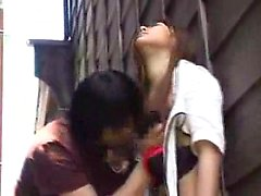 Gorgeous Japanese girl showing off her cocksucking abilitie