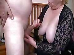 Nice granny with two men