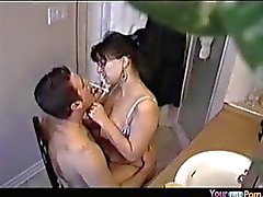 Colette fucks her man while shaving his beard