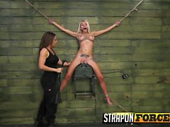 Blonde Kristin Is Self-disciplined