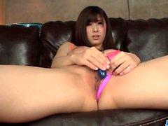 Mizuki Akai swallows cum after POV blowjob