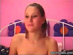Hott Amateur GF Fists Her Ass on Web Cam