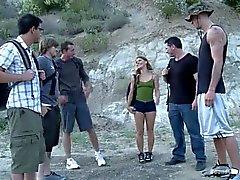 Scarlett Wild gets mercilessly gangbanged by her old school friends