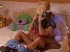 Kinky latex Anita Blonde hardcore analization
