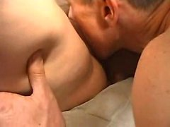 Skinny blonde and brunette suck big cocks and take facials