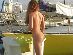 Andie Valentino flashing nude in public!!