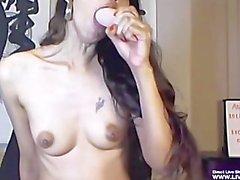 Horny petite milf Deb hardcore fists her ass