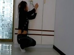 Asian girl tied up