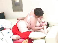 Older BBW Attacks Teen Dude