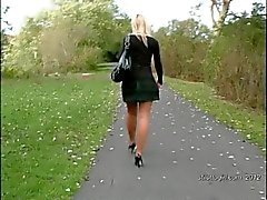 Sexy blonde secretary gives your fetish a stur in heels
