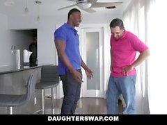 DaughterSwap - Small Ebony Teens Trade & Fuck Dads