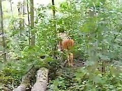 Lucy hurts a dick and performs Indian slut within the woodl
