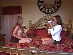 Lesbian bed acrobatics