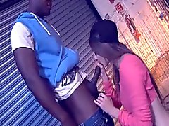 British chav Leyla gets fucked up the arse with a BBC