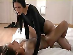 Luxury babes with strapon in extreme