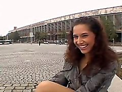 Slutty Brunette Sucking Dick Outdoors In Public