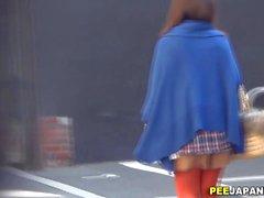 Asian sluts alley peeing