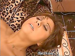 Amateur girls licking and fisting hole