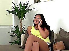 Dark haired amateur fucks on casting pov